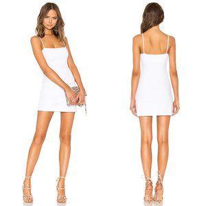 Susana Monaco Thin Strap Mini Dress White Bodycon